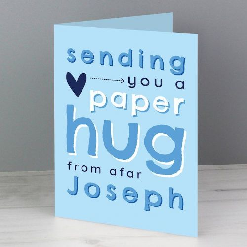 Blue Hug From Afar Card